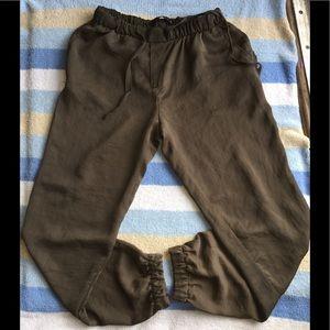 Zara Woman brown Pants with drawstring Sz S